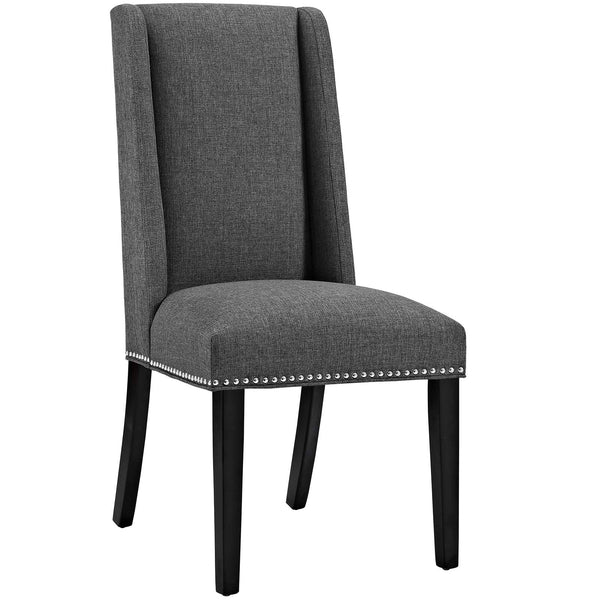 Dining Chairs - Modway EEI-2233-GRY Baron Fabric Dining Chair | 889654066255 | Only $95.25. Buy today at http://www.contemporaryfurniturewarehouse.com