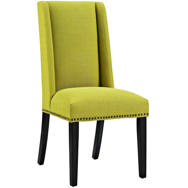Dining Chairs - Modway EEI-2233-WHE Baron Fabric Dining Chair | 889654066309 | Only $95.25. Buy today at http://www.contemporaryfurniturewarehouse.com