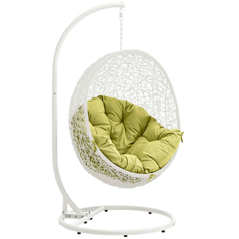 Hide Outdoor Patio Swing Chair White Peridot | Modern Outdoor Lounge Chair by Modway at Contemporary Modern Furniture  Warehouse