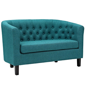 Loveseats - Modway EEI-2614-TEA Prospect Chesterfield Style Fabric Loveseat | 889654098133 | Only $376.55. Buy today at http://www.contemporaryfurniturewarehouse.com