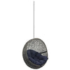Modway EEI-2654-GRY-NAV Hide Outdoor Patio Swing Chair Without Stand Gray Navy