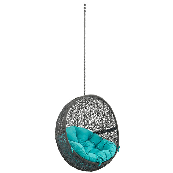 Modway EEI-2654-GRY-TRQ Hide Outdoor Patio Swing Chair Without Stand Gray Turquoise