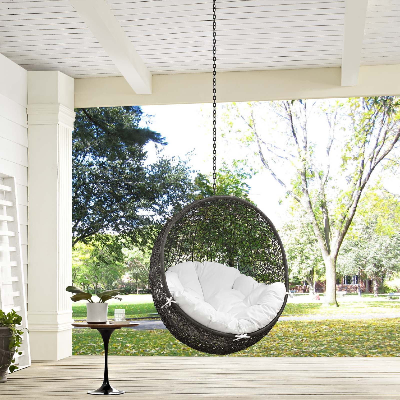 Patio Swing Chairs Sale: Modway Outdoor Lounge Chairs On Sale. EEI-2654-WHI-WHI