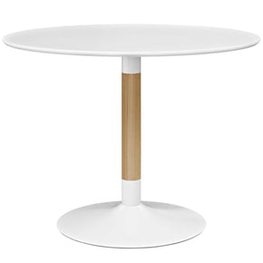 Modway EEI-2666-WHI-SET Whirl Round Dining Table White