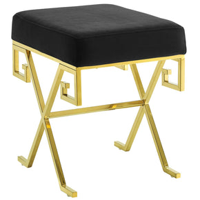 Modway EEI-2877-GLD-BLK Twist Velvet Bench Gold Black