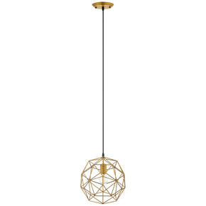 Modway EEI-2911 Rarity Geometric Decagon-Shaped Brass Pendant Light Standard