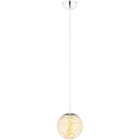 "Modway EEI-2927 Fairy 12"" Amber Glass Globe Ceiling Light Pendant Chandelier Standard"
