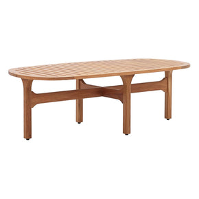 Modway EEI-2930-NAT Saratoga Outdoor Patio Premium Grade A Teak Wood Oval Coffee Table Natural