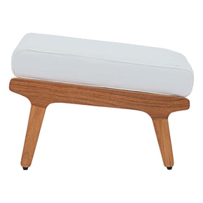 Modway EEI-2936-NAT-WHI Saratoga Outdoor Patio Teak Ottoman Natural White