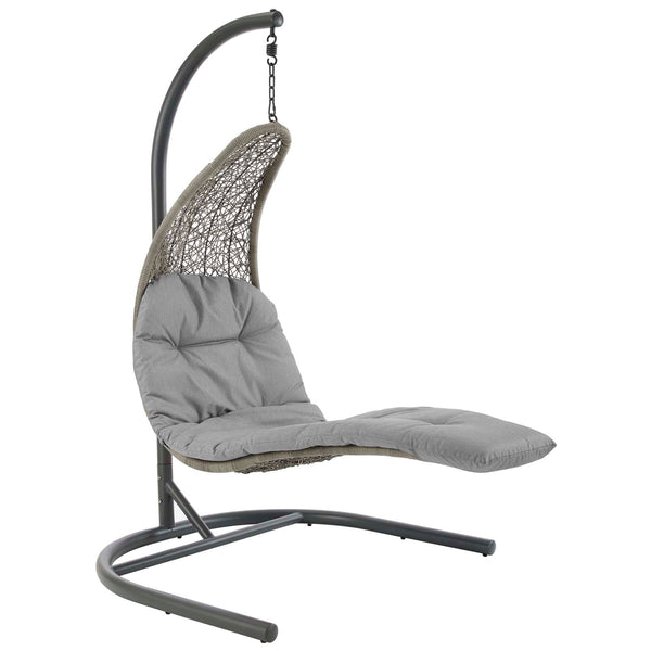 Outdoor Lounge Chairs - Modway EEI-2952-LGR-GRY Landscape Hanging Chaise Lounge Outdoor Patio Swing Chair | 889654146650 | Only $656.75. Buy today at http://www.contemporaryfurniturewarehouse.com