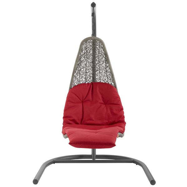 Outdoor Lounge Chairs - Modway EEI-2952-LGR-BEI Landscape Hanging Chaise Lounge Outdoor Patio Swing Chair | 889654146643 | Only $661.25. Buy today at http://www.contemporaryfurniturewarehouse.com