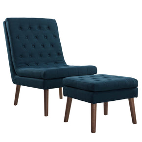 Lounge Chairs - Modway EEI-2988-AZU Modify Upholstered Lounge Chair and Ottoman | 889654123132 | Only $315.00. Buy today at http://www.contemporaryfurniturewarehouse.com