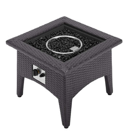 Modway EEI-2990-EXP Vivacity Outdoor Patio Fire Pit Table Espresso