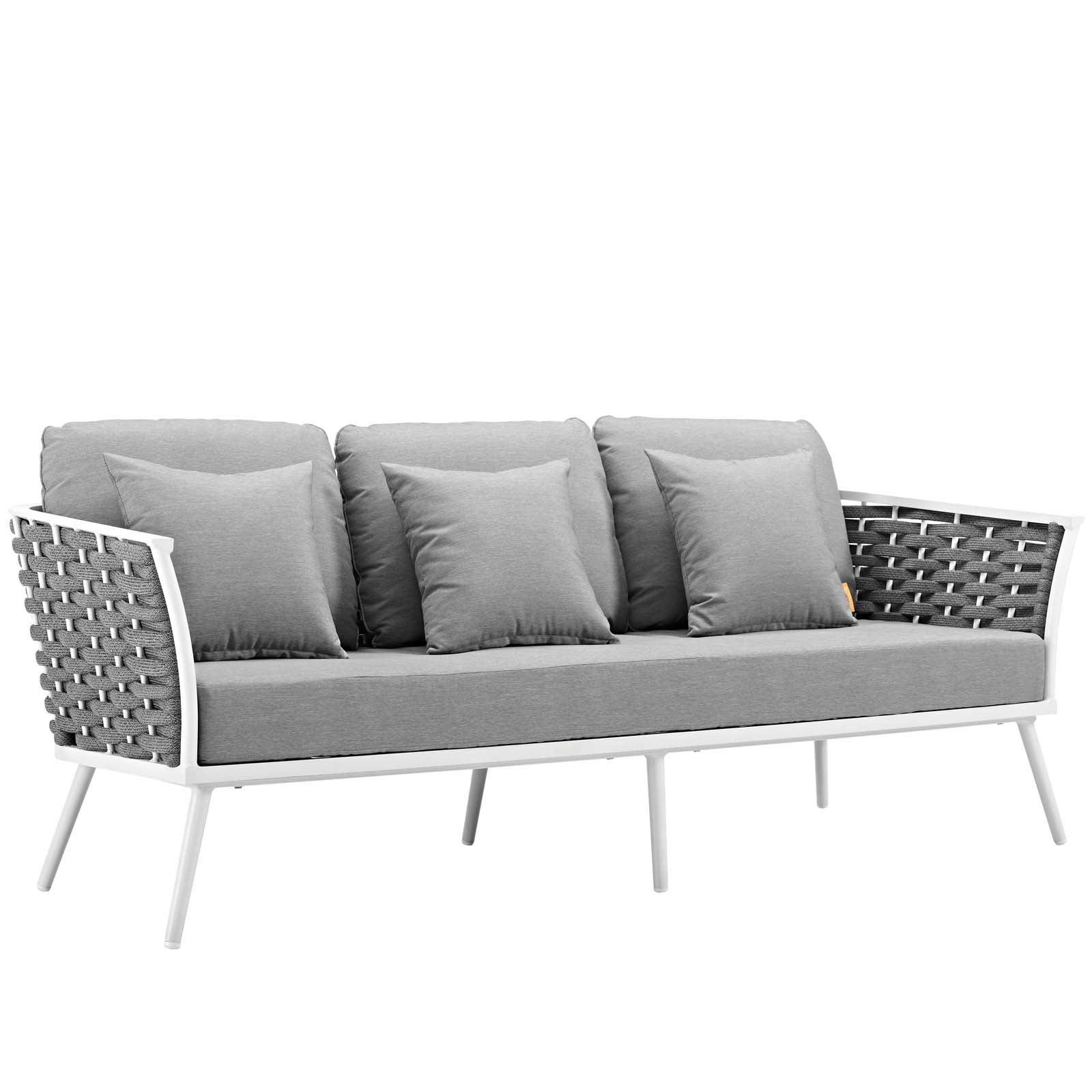Modway Outdoor Sofas on sale. EEI-3020-WHI-GRY Stance Outdoor Patio  Aluminum Sofa only Only $954.80 at Contemporary Furniture Warehouse
