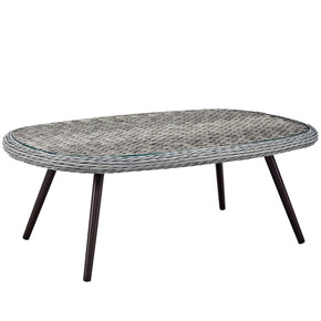 Modway EEI-3026-GRY Endeavor Outdoor Patio Wicker Rattan Coffee Table Gray