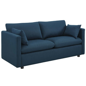 Modway EEI-3044-AZU Activate Upholstered Fabric Sofa Azure