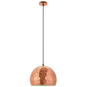 "Modway EEI-3087 Dimple 13.5"" Half-Sphere Rose Gold Pendant Light Default Title"
