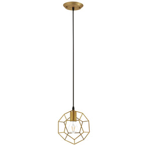 Modway EEI-3088 Pique Rose Gold Metal Ceiling Fixture Default Title