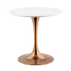 "Modway EEI-3218-ROS-WHI Lippa 36"" Round Dining Table Rose White"