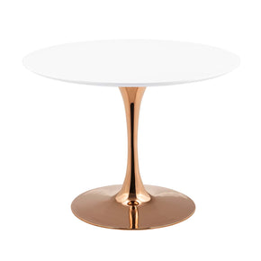 "Modway EEI-3237-ROS-WHI Lippa 40"" Round Dining Table Rose White"