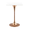 "Lippa 28"" Square Bar Table Rose Gold / White"