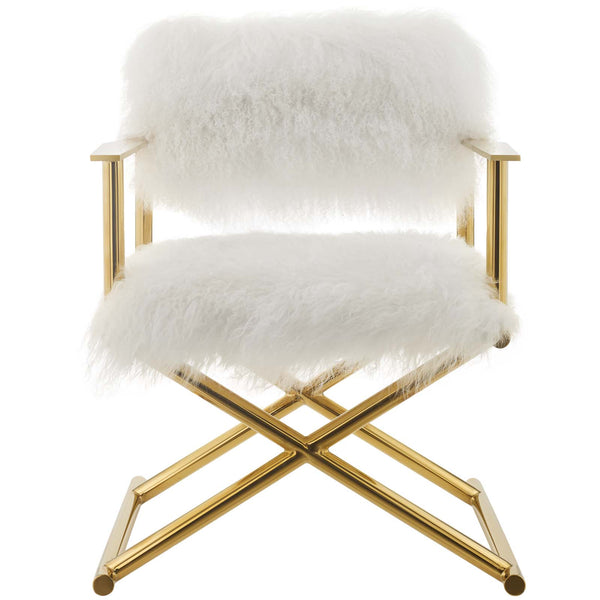Superb Modway Accent Chairs On Sale Eei 3269 Gld Whi Action Pure White Cashmere Accent Directors Chair Only Only 755 30 At Contemporary Furniture Creativecarmelina Interior Chair Design Creativecarmelinacom