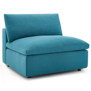 Modway EEI-3270-TEA Commix Down Filled Overstuffed Armless Chair Teal