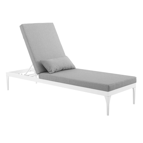 Delicieux ... Outdoor Patio Chaise Lounge Chair White · EEI 3301 WHI GRY White Gray