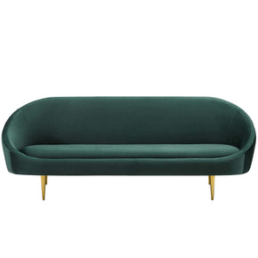 Modway EEI-3349-GRN Sublime Vertical Curve Back Performance Velvet Sofa Green