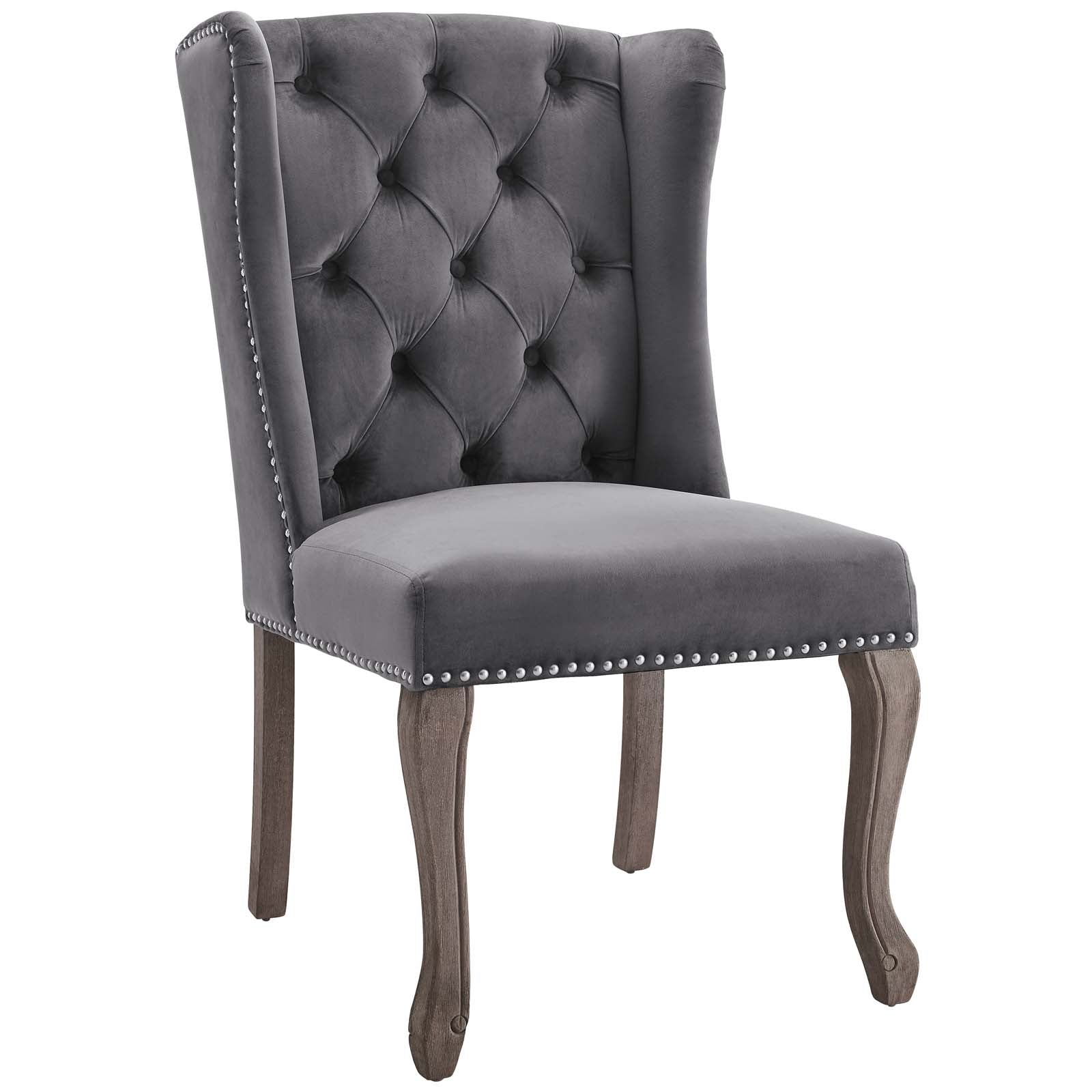 Cool Modway Dining Chairs On Sale Eei 3367 Gry Apprise French Vintage Dining Performance Velvet Side Chair Only Only 266 05 At Contemporary Furniture Alphanode Cool Chair Designs And Ideas Alphanodeonline
