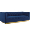 Sanguine Vertical Channel Tufted Performance Velvet Sofa