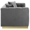 Vivacious Biscuit Tufted Performance Velvet Sofa