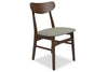 Gramercy Mid-Century Modern Dining Chair in Light Grey (Set of 2)