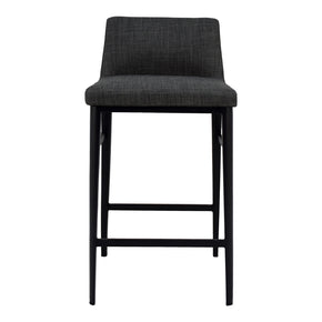 Moe's Home Collection EJ-1031-07 Baron Counter Stool Charcoal
