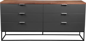 Moe's Home Collection ER-2073-03 Leroy Low Dresser Contemporary Modern Brown