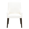 Orient Express Furniture 5137.ALA Essex Arm Chair Alabaster Top Grain Leather, Espresso