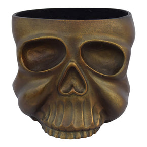 Moe's Home Collection FI-1068-51 Metal Skull Planter