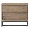 Elena Nightstand Solid Rustic Wood