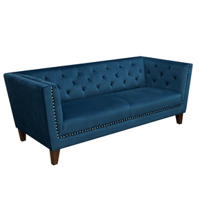 Sofas - Diamond Sofa GRANDSOBU Grand Tufted Back Sofa with Nail Head Accent in Blue Velvet | 641427617480 | Only $999.00. Buy today at http://www.contemporaryfurniturewarehouse.com