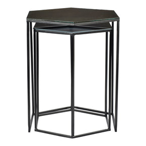 Moe's Home Collection GZ-1008-02 Polygon Accent Tables Set Of Two Black