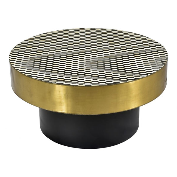 Optic Coffee Table Brass