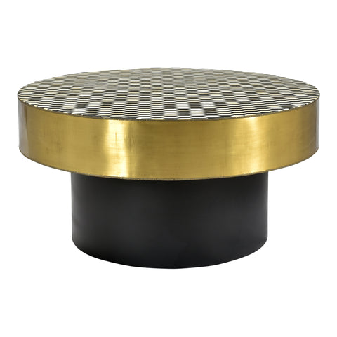 Moe's Home Collection GZ-1010-43 Optic Coffee Table Brass