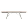 Grayson Extension Dining Table Natural Gray, Brushed Stainless Steel