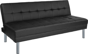 "Flash Furniture HG-500530-BLK-GG Metropolitan 67"" Black Futon Bed and Couch 889142458036"