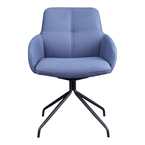 Moe's Home Collection HK-1017-26 Kingpin Swivel Chair Blue