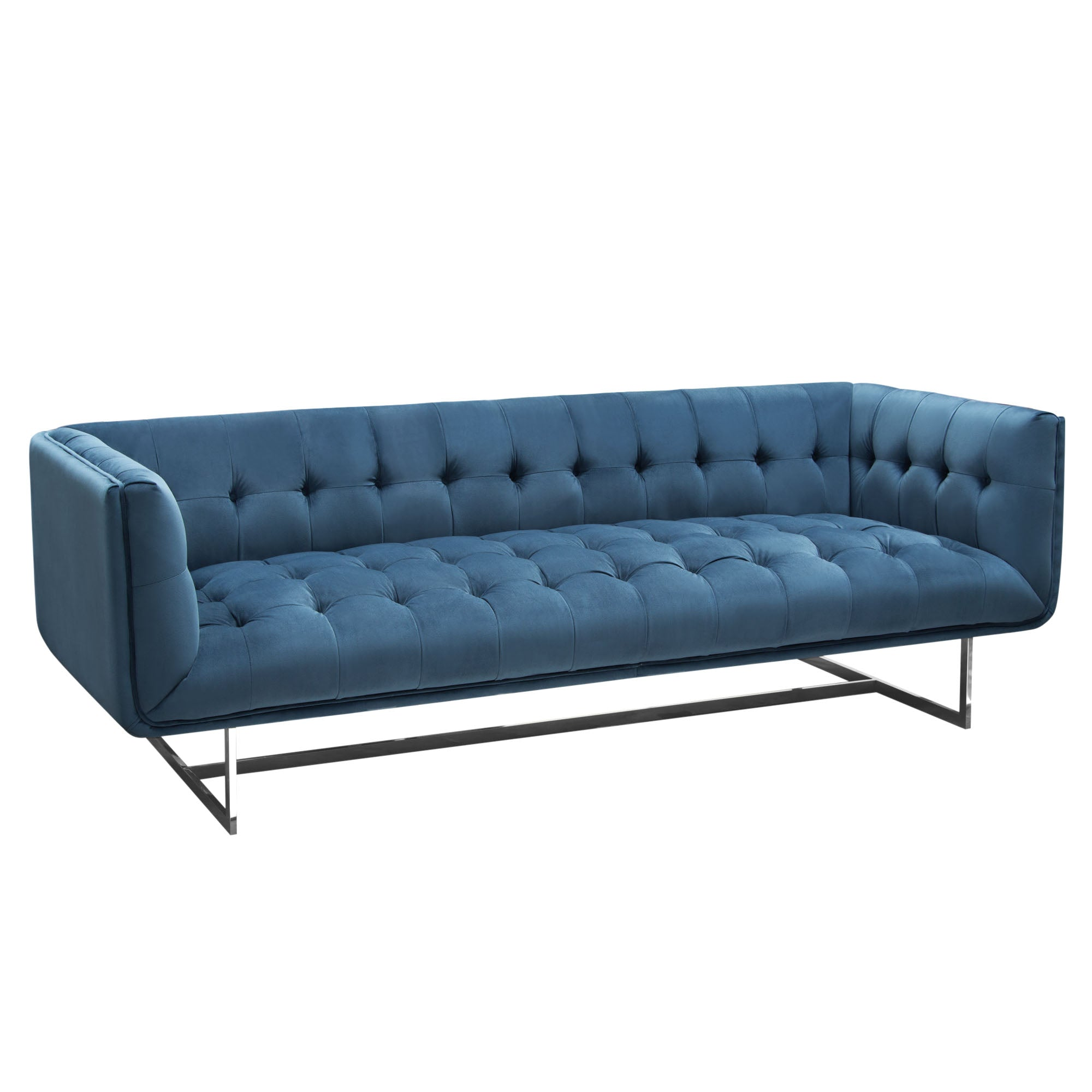 Picture of: Buy Diamond Sofa Hollywoodsobu Hollywood Tufted Sofa In Royal Blue Velvet With Metal Leg At Contemporary Furniture Warehouse