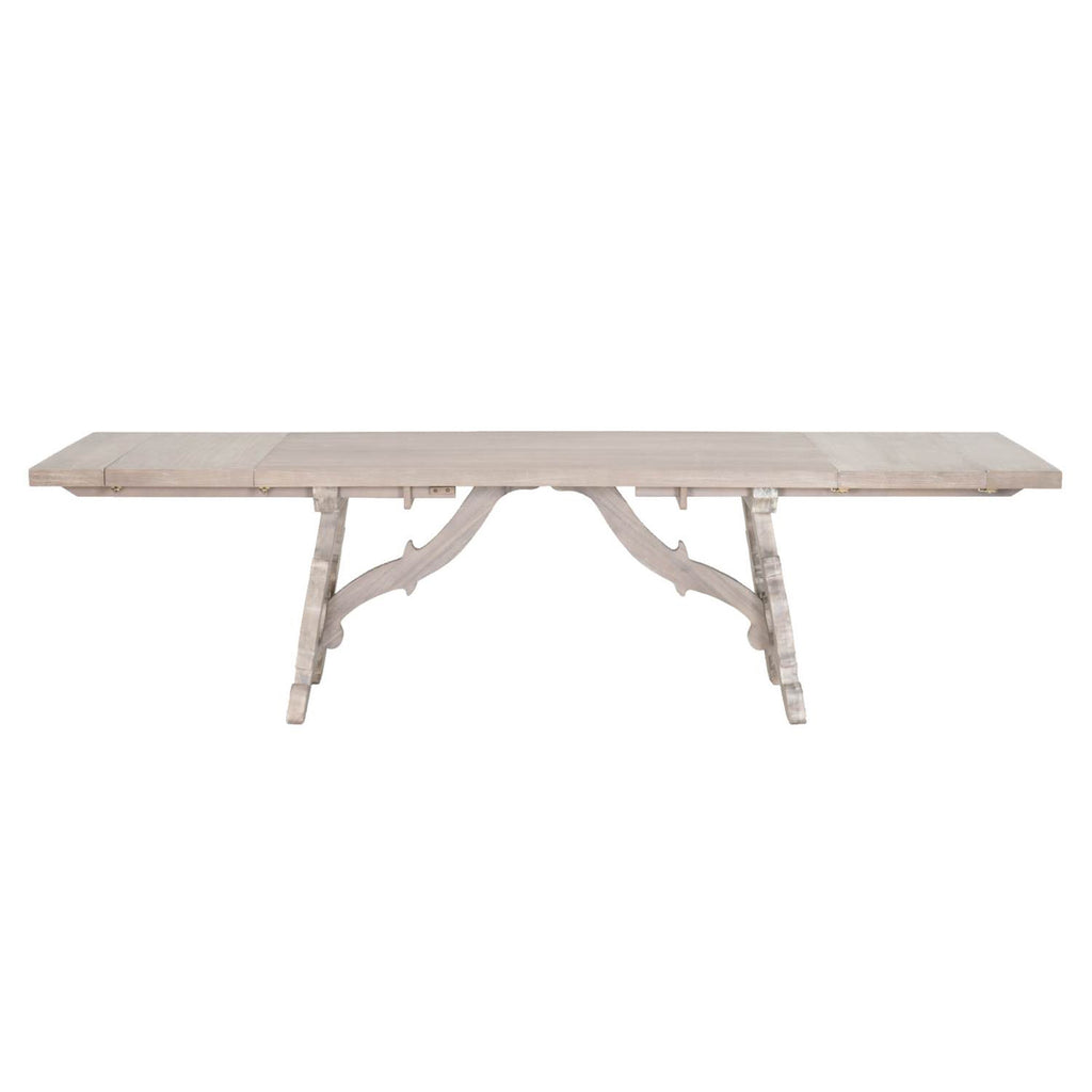 Dining tables orient express furniture 6093 ng haute extension dining table natural gray