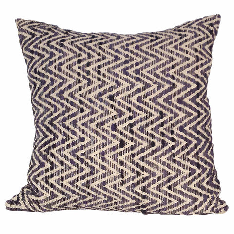 Moe's Home Collection IE-1038-07 Chevron Feather Cushion Charcoal 25X25