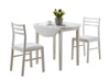 Dining Set - 3Pcs Set / White With A 36