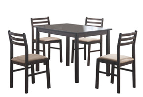 Monarch Specialties I 1111 Dining Set - 5Pcs Set / Cappuccino Veneer  021032186098